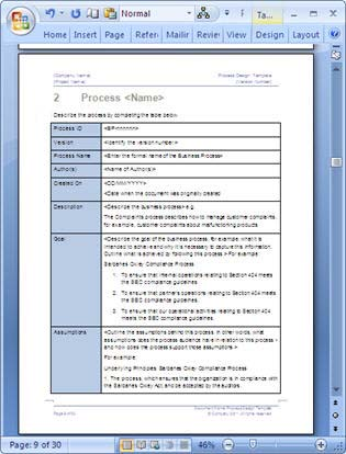 Business Process Design Templates In Ms Word Excel Visio
