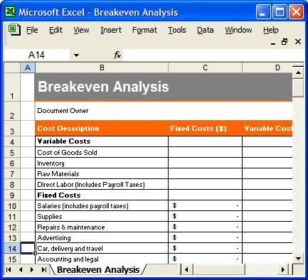 microsoft business planner balance sheet